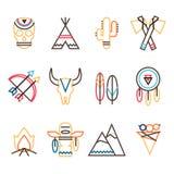 Stam- symbolsuppsättning stock illustrationer