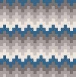 Stam- Teal Chevron Wave Ethnic Pattern för vektor illustration stock illustrationer