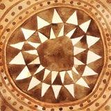 Stam- trianglar cirklar vattenfärgbakgrund royaltyfria bilder