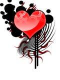 stam- vektor för hjärta Royaltyfri Bild