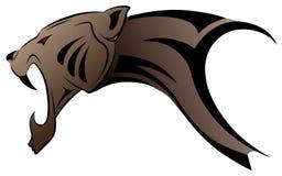 stam- vektor för leopardtatuering Royaltyfri Bild