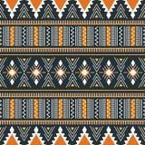 Stam- vektorprydnad seamless afrikansk modell Vektorillustr vektor illustrationer