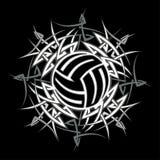 stam- vektorvolleyboll för logo Arkivfoto