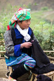 stam- vietnamesisk kvinna Royaltyfria Bilder