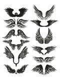 stam- vingar royaltyfri illustrationer