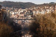 Stambolov bridge over the Yantra, Veliko Tarnovo. Royalty Free Stock Photos