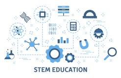STAMconcept Wetenschap, technologie, techniek en wiskunde royalty-vrije illustratie