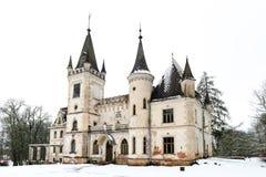 Stameriena slott Gulbene Lettland i vinter Royaltyfria Foton