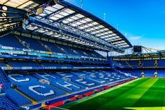 Stamford-Brücken-Fußball-Stadion für Chelsea Club lizenzfreies stockbild
