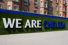 Stamford-Brücken-Stadion von Chelsea Football Club lizenzfreie stockbilder