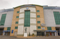 Stamford Bridge Arena. At Stamford Bridge stadium - the official arena of FC Chelsea Royalty Free Stock Photo