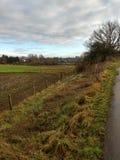 Stamford Bridge rural land next to the viaduct stock image