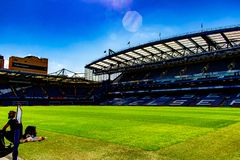 Stamford Bridge football stadium for Chelsea Club royalty free stock photography