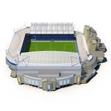 Stamford Bridge Stadium on White 3D Illustration Royalty Free Stock Photos