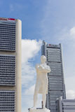 Stamford Raffles statue in Singapore. Statue of Stamford Raffles in Singapore. Sir Stamford Raffles was the first Westerner to discover Singapore in 1819 Royalty Free Stock Photos