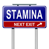 Stamina concept. Illustration depicting a roadsign with a stamina concept. White  background Royalty Free Stock Photography