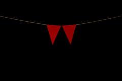Stamina, due triangoli rossi su corda per il messaggio dell'insegna Immagine Stock Libera da Diritti