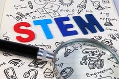STAMM Bildung Wissenschafts-Technologie-Technik-Mathematik Lizenzfreies Stockfoto
