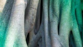 Stamm eines Banyanbaumhintergrundes lizenzfreies stockbild