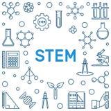 STAMM-Konzept-Entwurfsrahmen Auch im corel abgehobenen Betrag vektor abbildung