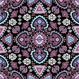 Stammen Azteeks uitstekend naadloos patroon Stock Afbeelding