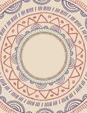 Stammen Boheemse Mandala-achtergrond met rond Royalty-vrije Stock Afbeeldingen