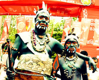 Stammen cosplay in Boishakh-viering royalty-vrije stock fotografie
