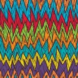 Stammen de kleuren naadloos patroon van de Chevron gek lijn vector illustratie