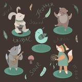 Stammen dieren Stock Afbeelding