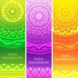 Stammen etnische uitstekende banners Vector illustratie Royalty-vrije Stock Foto