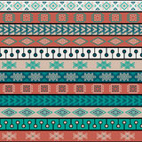 Stammen gebreid naadloos patroon, Indische of Afrikaanse etnische lapwerkstijl vector illustratie