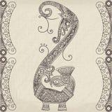 Stammen gestileerde draak vectorillustratie vector illustratie