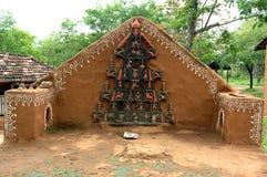 Stammen God in Shilpgram, Udaipur Stock Afbeeldingen