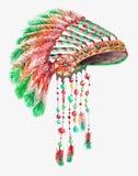 Stammen Indische hoed Royalty-vrije Stock Afbeeldingen