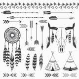 Stammen Indische Inzamelingen royalty-vrije illustratie