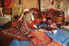 Stammen Kunstenaars in India stock afbeelding