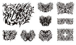 Stammen leeuw-paard symbool en vlinders van het Stock Fotografie