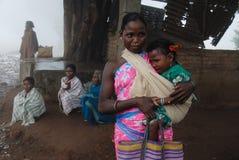 Stammen Mensen in India Stock Afbeeldingen