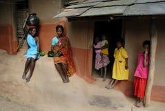 Stammen Mensen in India stock afbeelding