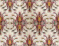 Stammen naadloos kleurrijk geometrisch patroon royalty-vrije stock afbeeldingen