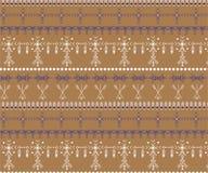 Stammen naadloos patroon - de inheemse tekens van Berber, etnische achtergrond stock afbeelding