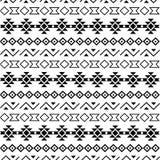Stammen naadloze patroonzwarte op witte achtergrond royalty-vrije illustratie