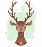 Stammen sierhertenhoofd Royalty-vrije Illustratie
