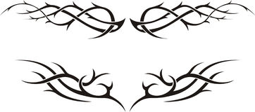 Stammen tatoegering stock illustratie