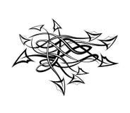 Stammen tatoegering met pijlen. Stock Afbeelding