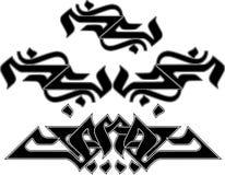 Stammen Tatoegeringen Stock Illustratie