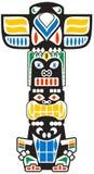 Stammen totem Stock Fotografie