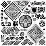Stammen uitstekende etnische patroonreeks stock illustratie