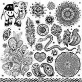 Stammen uitstekende etnische patroonreeks vector illustratie