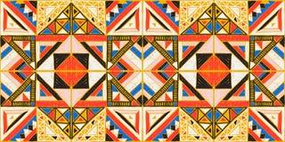 Stammen vectorornament Naadloos Afrikaans Patroon Etnisch ontwerp op het tapijt Azteekse stijl vector illustratie
